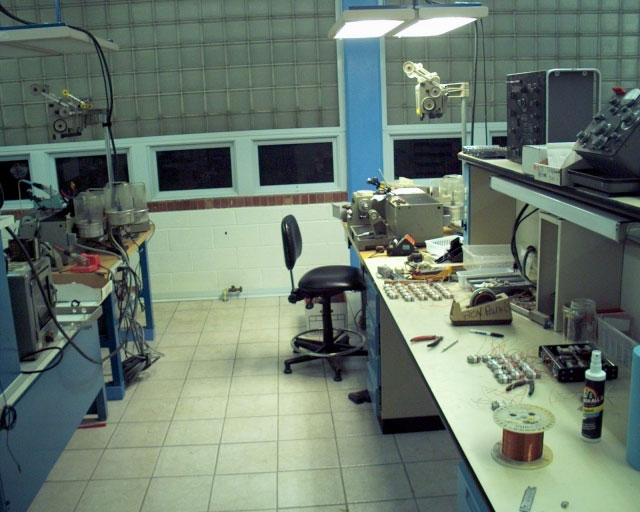 AMI, Inc. electronics manufacturing bench. Photo courtesy of AMI, Inc.