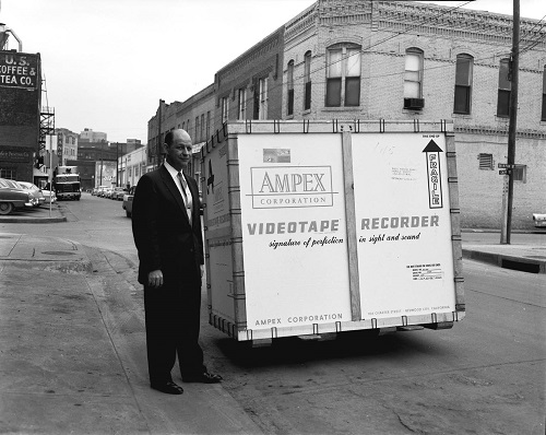 Ampex VTR shipping crate