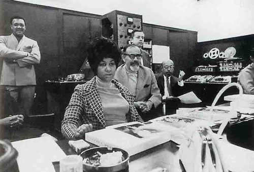 Aretha Franklin and Jerry Wexler