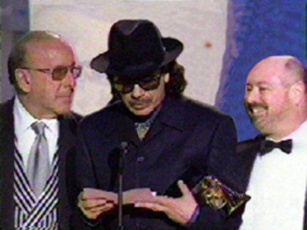 Clive Davis, Carlos Santana and Glen Kolotkin