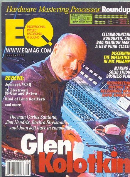 Glen Kolotkin EQ Magazine Cover