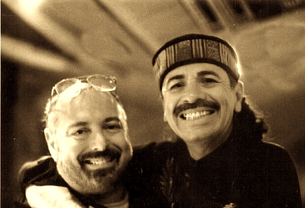 Glen Kolotkin and Carlos Santana