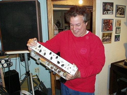 Joel Katz with his Pultec Prototype