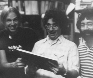 Richard Factor, engineer Jeff Sasmor, and Tony Agnello in the Eventide Halcyon Days