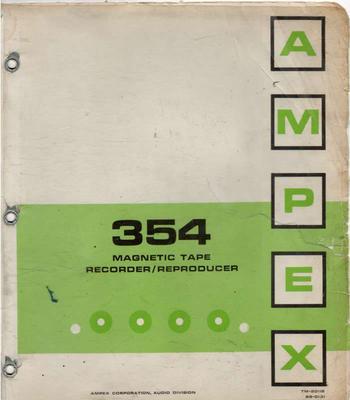AMPEX 354 Manual