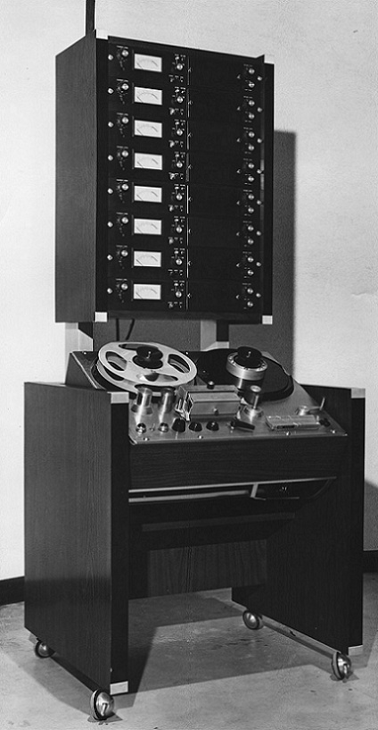 MCI Early 8 Track Tape Machine with AMPEX 300 Transport