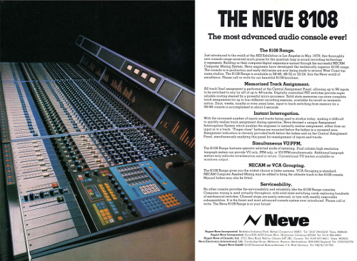 Awesome Neve 8108 Download Free Architecture Designs Scobabritishbridgeorg