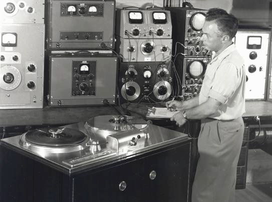 AMPEX Model 200A with Harold Lindsay