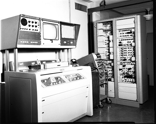Ampex VTR in operation