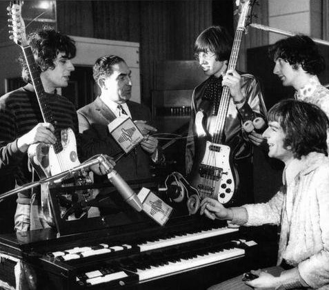 Pink Floyd in the studio in the 1960s before David Gilmour joined the band